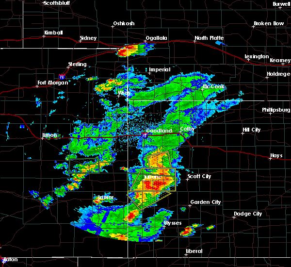 Radar Image for Severe Thunderstorms near Marienthal, KS at 7/19/2015 8:16 PM CDT