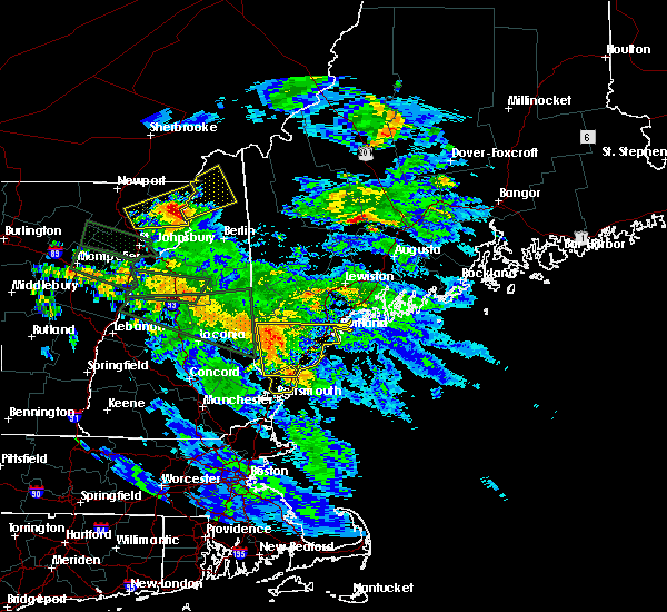 Radar Image for Severe Thunderstorms near West Kennebunk, ME at 7/19/2015 9:20 PM EDT