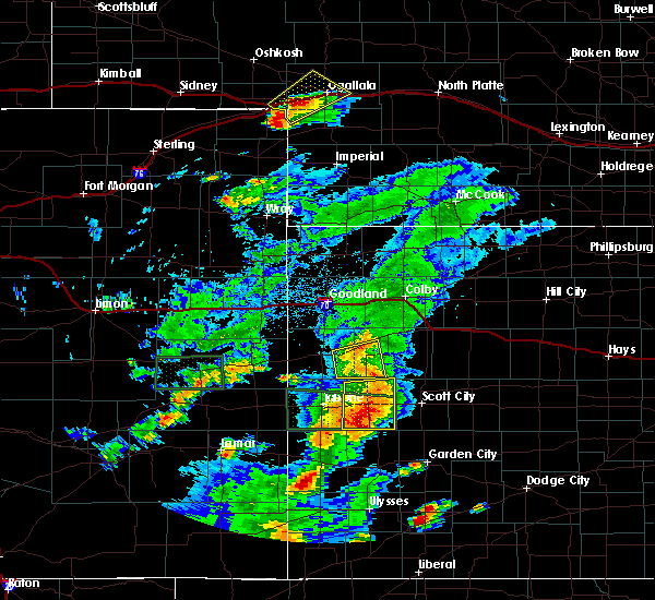 Radar Image for Severe Thunderstorms near Marienthal, KS at 7/19/2015 8:26 PM CDT