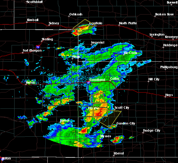 Radar Image for Severe Thunderstorms near Marienthal, KS at 7/19/2015 8:33 PM CDT