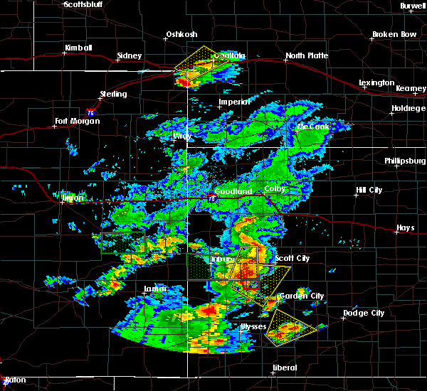 Radar Image for Severe Thunderstorms near Marienthal, KS at 7/19/2015 8:43 PM CDT