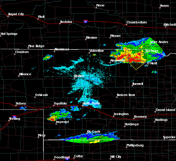 Radar Image for Severe Thunderstorms near Atkinson, NE at 7/19/2015 10:05 PM CDT