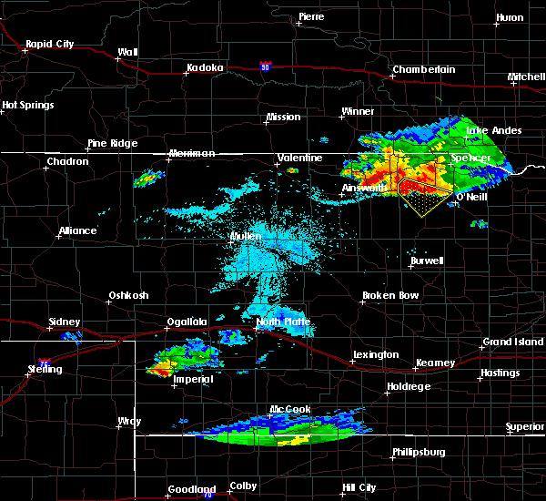 Radar Image for Severe Thunderstorms near Emmet, NE at 7/19/2015 10:05 PM CDT