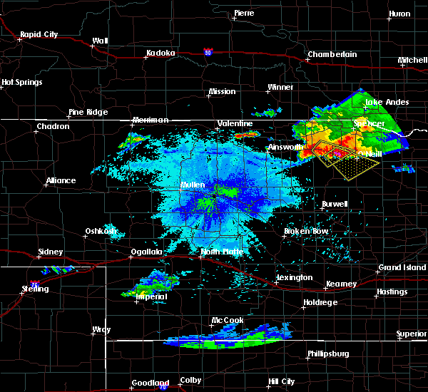 Radar Image for Severe Thunderstorms near Atkinson, NE at 7/19/2015 10:35 PM CDT