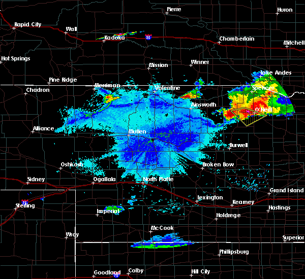 Radar Image for Severe Thunderstorms near Atkinson, NE at 7/19/2015 11:00 PM CDT