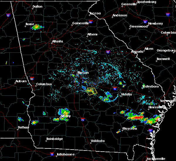 Radar Image for Severe Thunderstorms near Cochran, GA at 7/20/2015 4:18 PM EDT