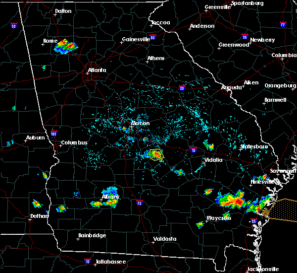 Radar Image for Severe Thunderstorms near Cochran, GA at 7/20/2015 4:40 PM EDT
