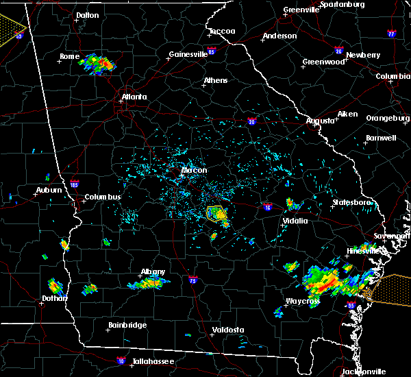 Radar Image for Severe Thunderstorms near Cochran, GA at 7/20/2015 4:54 PM EDT