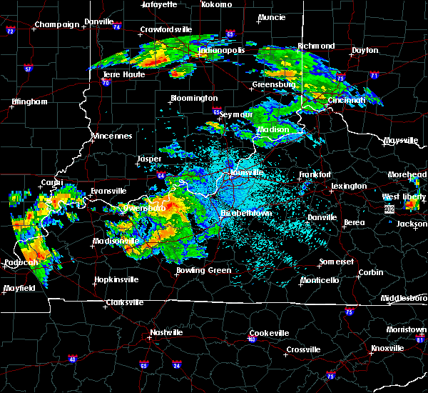 Radar Image for Severe Thunderstorms near Irvington, KY at 7/20/2015 10:35 PM EDT