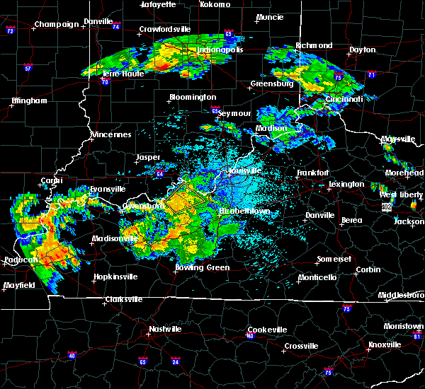 Radar Image for Severe Thunderstorms near Ekron, KY at 7/20/2015 10:56 PM EDT