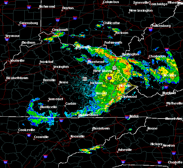 Radar Image for Severe Thunderstorms near Pikeville, KY at 7/21/2015 4:32 AM EDT