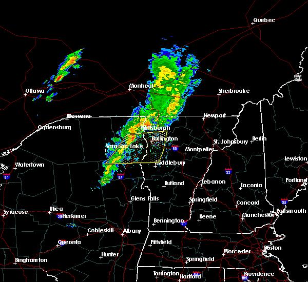Radar Image for Severe Thunderstorms near Hinesburg, VT at 7/21/2015 1:20 PM EDT