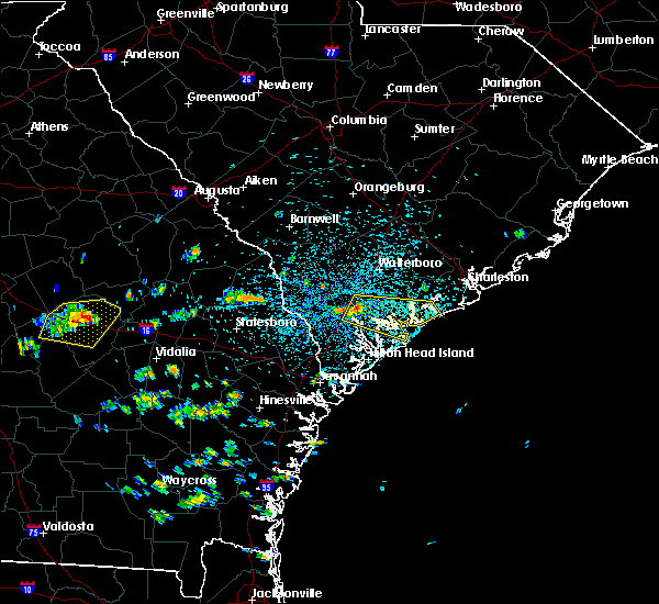 Radar Image for Severe Thunderstorms near Edisto Beach, SC at 7/21/2015 1:35 PM EDT