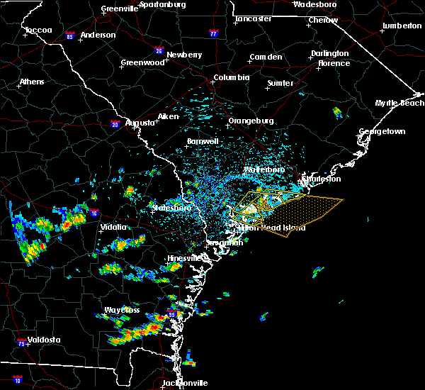Radar Image for Severe Thunderstorms near Edisto Beach, SC at 7/21/2015 2:31 PM EDT