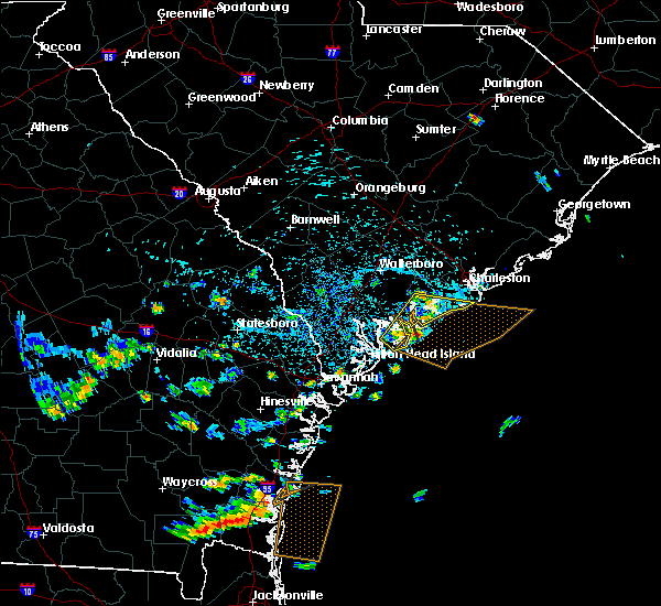 Radar Image for Severe Thunderstorms near Edisto Beach, SC at 7/21/2015 2:54 PM EDT