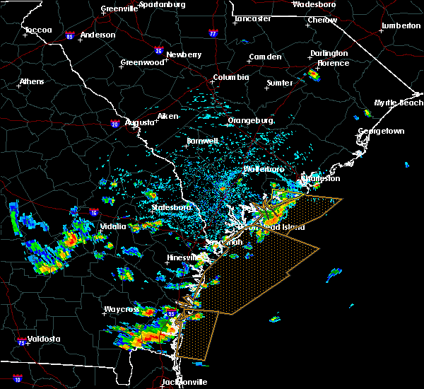 Radar Image for Severe Thunderstorms near Edisto Beach, SC at 7/21/2015 3:09 PM EDT