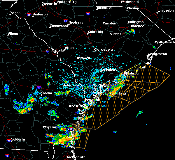 Radar Image for Severe Thunderstorms near Kiawah Island, SC at 7/21/2015 3:31 PM EDT
