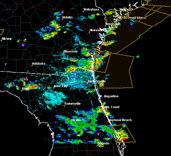 Radar Image for Severe Thunderstorms near Callahan, FL at 7/21/2015 3:43 PM EDT