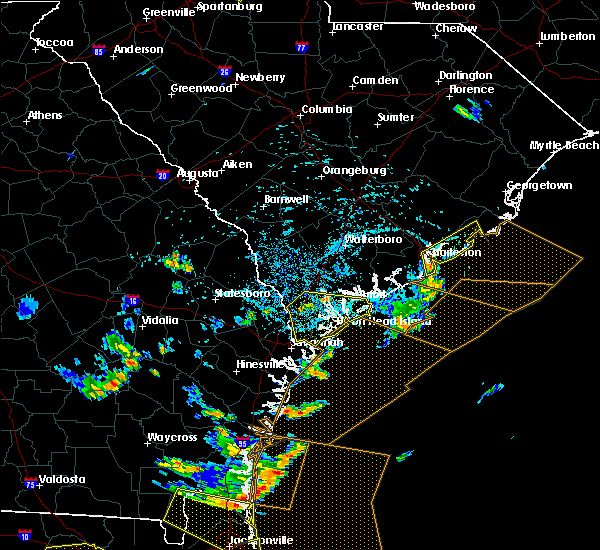 Radar Image for Severe Thunderstorms near North Charleston, SC at 7/21/2015 3:52 PM EDT