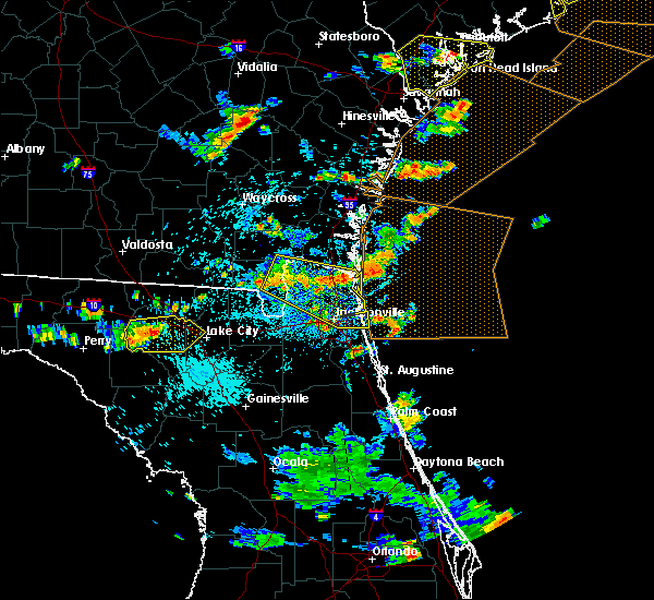 Radar Image for Severe Thunderstorms near Callahan, FL at 7/21/2015 4:08 PM EDT