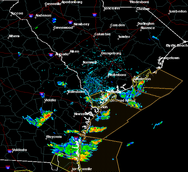 Radar Image for Severe Thunderstorms near Beaufort, SC at 7/21/2015 4:11 PM EDT
