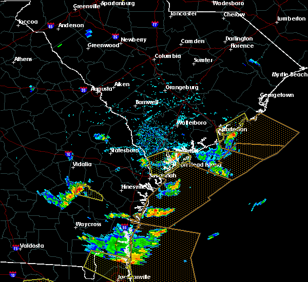 Radar Image for Severe Thunderstorms near Baxley, GA at 7/21/2015 4:14 PM EDT