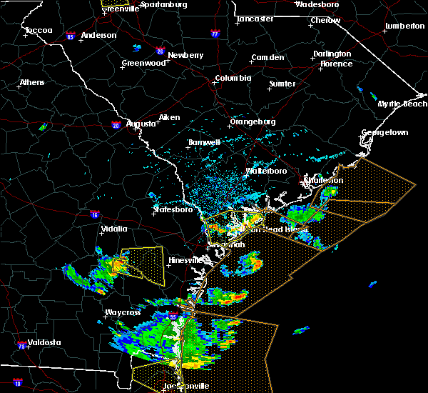 Radar Image for Severe Thunderstorms near Beaufort, SC at 7/21/2015 4:32 PM EDT