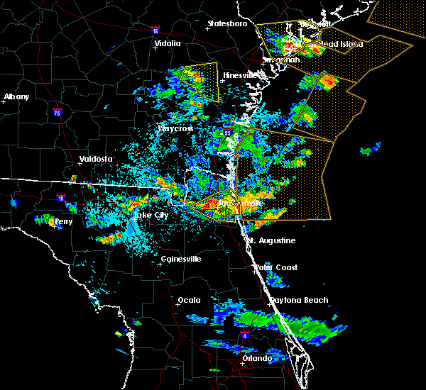 Radar Image for Severe Thunderstorms near Palm Valley, FL at 7/21/2015 5:03 PM EDT