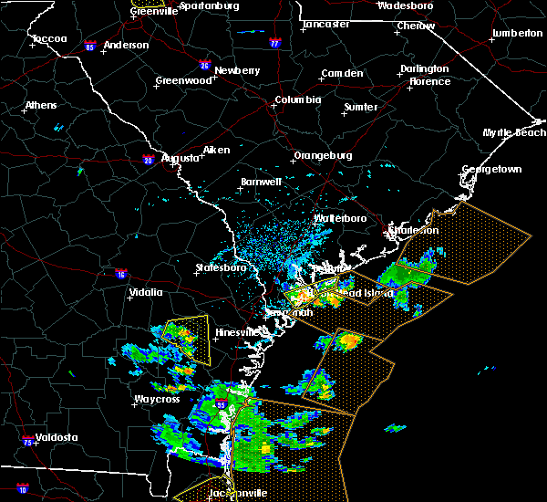 Radar Image for Severe Thunderstorms near Bluffton, SC at 7/21/2015 5:15 PM EDT