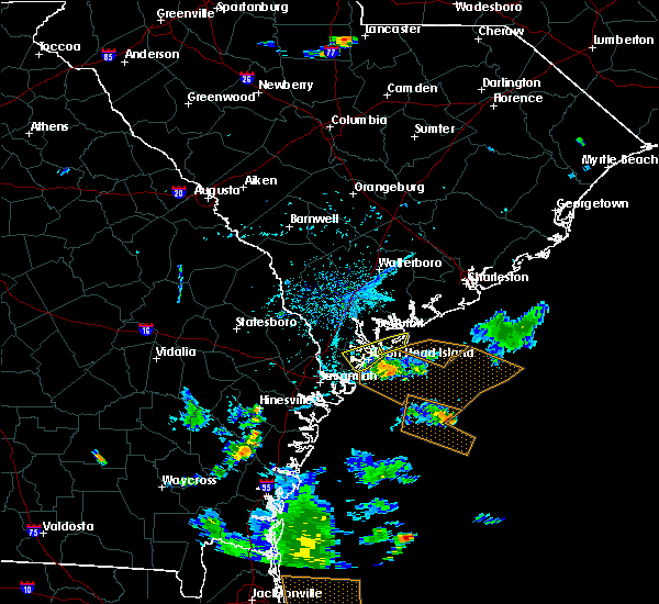 Radar Image for Severe Thunderstorms near Bluffton, SC at 7/21/2015 5:38 PM EDT