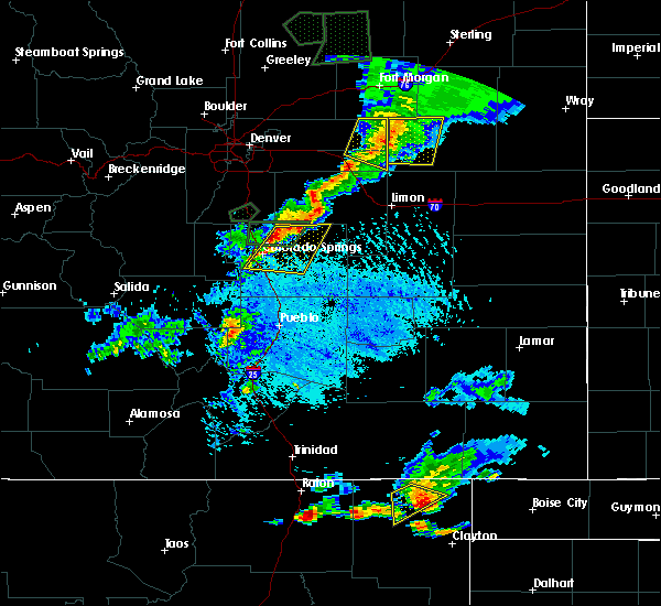 Radar Image for Severe Thunderstorms near Ellicott, CO at 7/21/2015 4:46 PM MDT