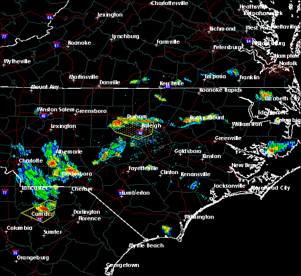 Radar Image for Severe Thunderstorms near Durham, NC at 7/21/2015 6:51 PM EDT