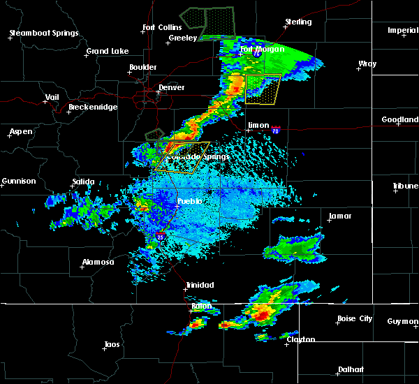 Radar Image for Severe Thunderstorms near Ellicott, CO at 7/21/2015 4:56 PM MDT