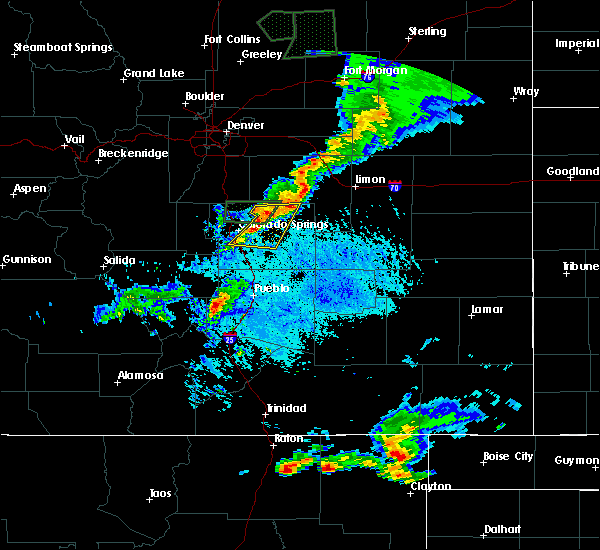 Radar Image for Severe Thunderstorms near Ellicott, CO at 7/21/2015 5:05 PM MDT