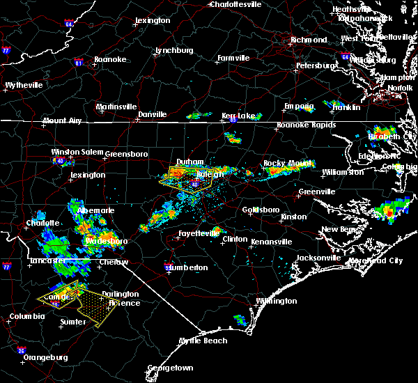 Radar Image for Severe Thunderstorms near Durham, NC at 7/21/2015 7:08 PM EDT