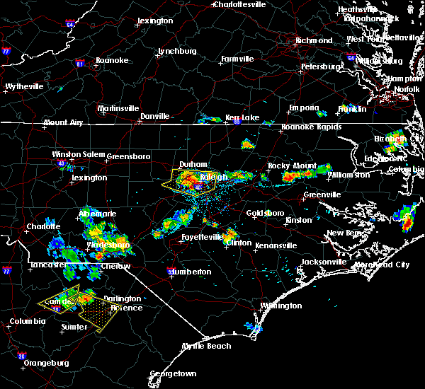 Radar Image for Severe Thunderstorms near Durham, NC at 7/21/2015 7:19 PM EDT
