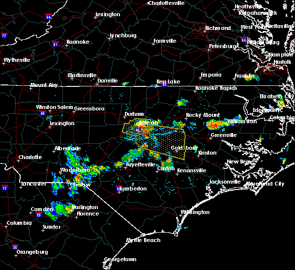 Radar Image for Severe Thunderstorms near Raleigh, NC at 7/21/2015 7:43 PM EDT