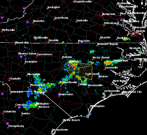 Radar Image for Severe Thunderstorms near Kenly, NC at 7/21/2015 7:49 PM EDT