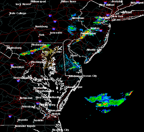 Radar Image for Severe Thunderstorms near Essex, MD at 7/21/2015 8:26 PM EDT