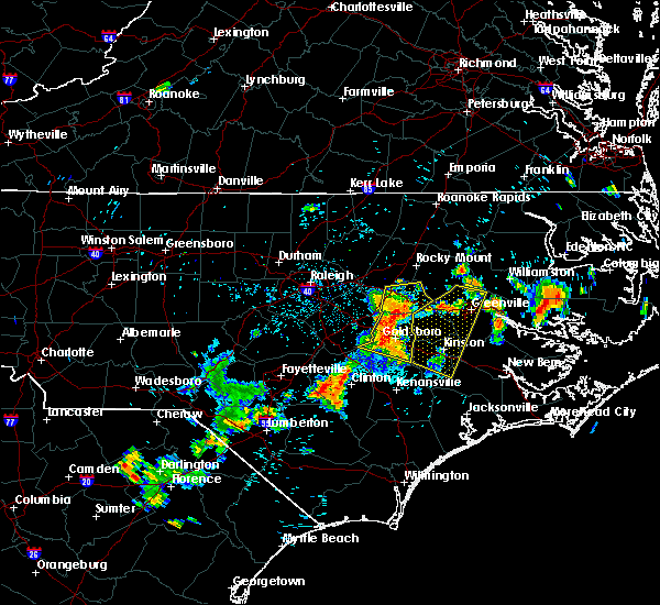 Radar Image for Severe Thunderstorms near Dover, NC at 7/21/2015 8:36 PM EDT