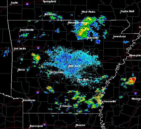Radar Image for Severe Thunderstorms near Arkansas City, AR at 7/22/2015 2:32 PM CDT