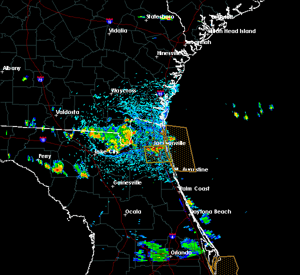 Radar Image for Severe Thunderstorms near Fleming Island, FL at 7/22/2015 3:44 PM EDT