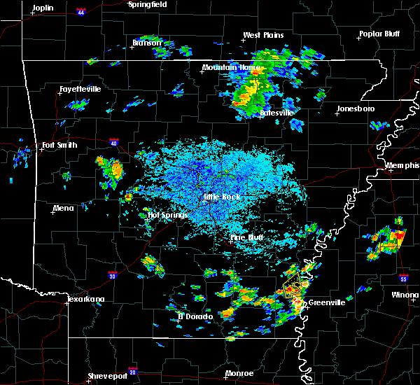 Radar Image for Severe Thunderstorms near Arkansas City, AR at 7/22/2015 3:02 PM CDT