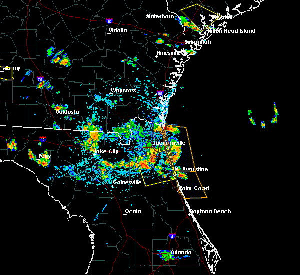 Radar Image for Severe Thunderstorms near Fleming Island, FL at 7/22/2015 4:47 PM EDT