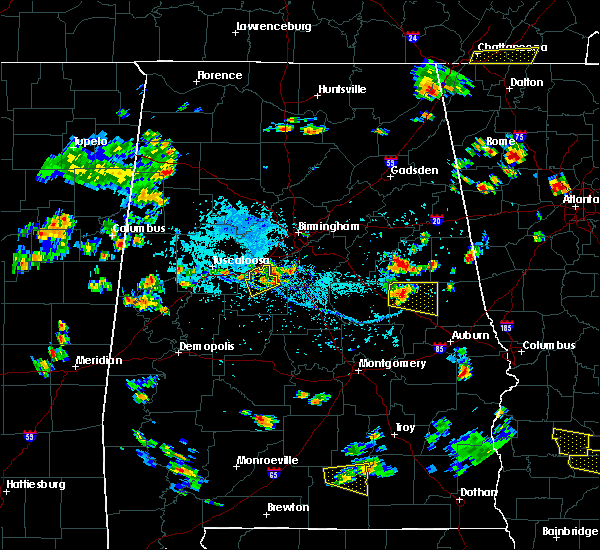 Radar Image for Severe Thunderstorms near West Blocton, AL at 7/22/2015 3:54 PM CDT