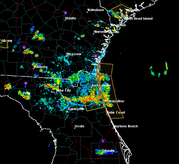 Radar Image for Severe Thunderstorms near Fleming Island, FL at 7/22/2015 5:03 PM EDT
