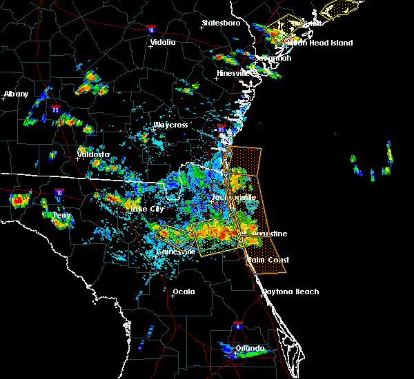 Radar Image for Severe Thunderstorms near Keystone Heights, FL at 7/22/2015 5:19 PM EDT