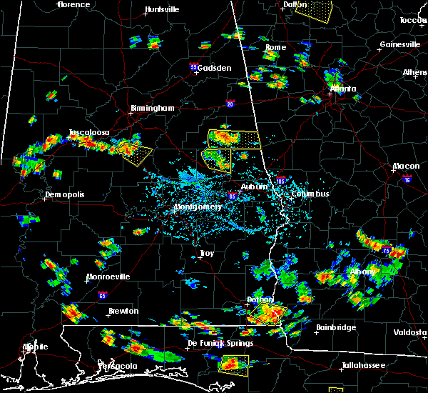 Radar Image for Severe Thunderstorms near Dadeville, AL at 7/22/2015 4:24 PM CDT