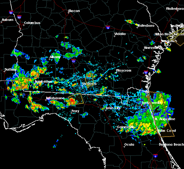 Radar Image for Severe Thunderstorms near Madison, FL at 7/22/2015 6:19 PM EDT
