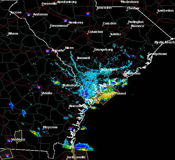 Radar Image for Severe Thunderstorms near Bluffton, SC at 7/22/2015 6:25 PM EDT